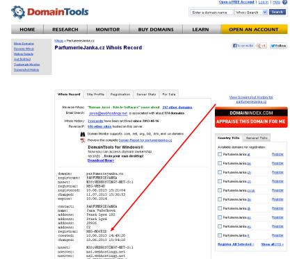 ParfumerieJanka.cz WHOIS, DNS, & Domain Info - DomainTools 2013-10-15 20-27-19