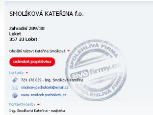 SMOLÍKOVÁ KATEŘINA f.o., Loket - Živéfirmy.cz 2013-10-14 19-22-46