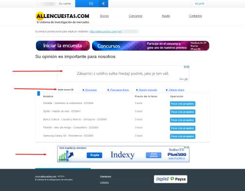 Allencuestas.com reklamy1